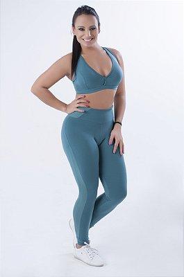 Calça Legging Fusô Fenda