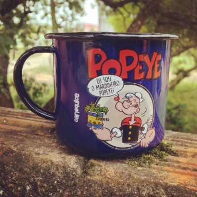 Caneca Retrô Esmaltada Popeye