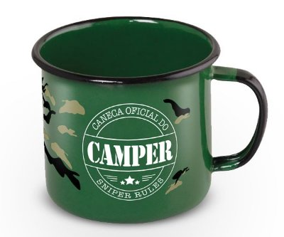 Caneca Retrô Esmaltada Camper