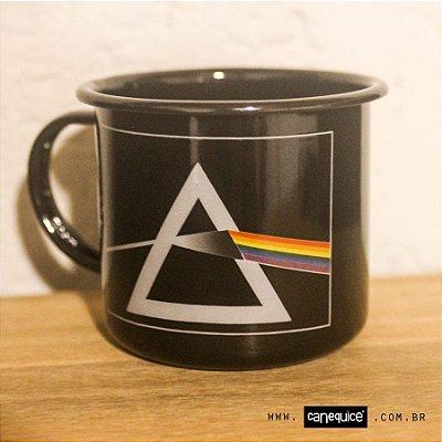 Caneca Retrô Esmaltada Pink Floyd