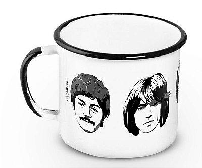 Caneca Retrô Esmaltada Beatles