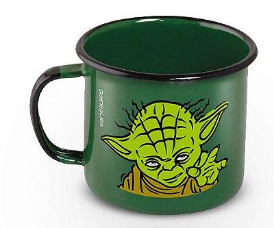 Caneca Retrô Esmaltada Yoda