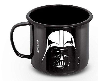Caneca Retrô Esmaltada Darth Vader