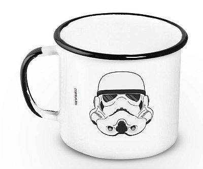 Caneca Retrô Esmaltada Storm Trooper