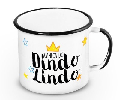 Caneca Retrô Esmaltada Dindo