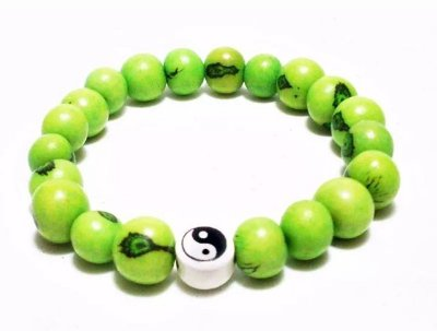 Pulseira de Açaí Verde Yin Yang