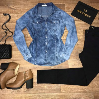 Camisa Jeans Start Winter Blue