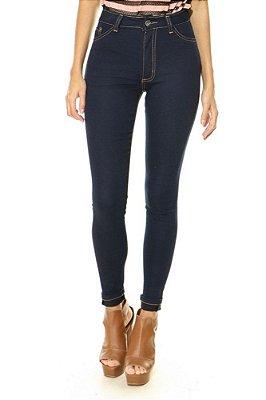 Calça Jeans Lady Rock Cintura Alta Carbono