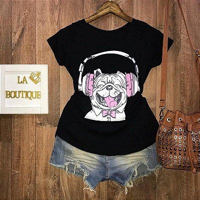 T-shirt Pug Headset