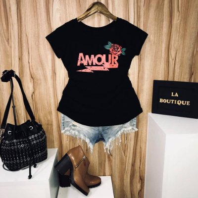 T-shirt amour et roses