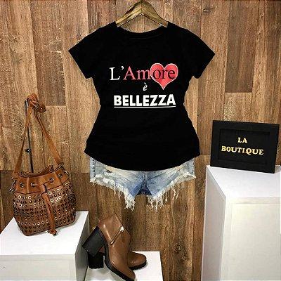 T-shirt Lamore é Bellezza