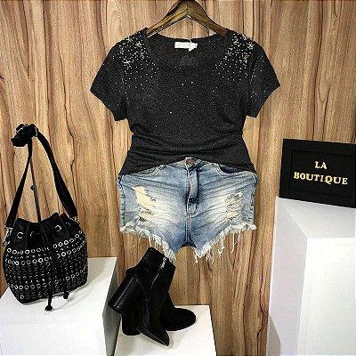 T-shirt Fashion com Estrelas