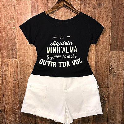 T-shirt Aquieta Minha Alma...