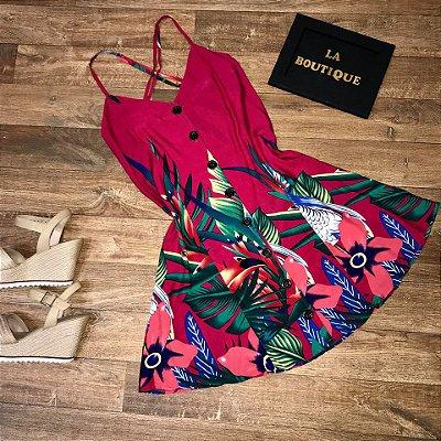 Vestido Alcinha com Botões Collection Tucanos Pink