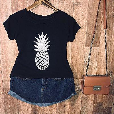 T-shirt Abacaxi Prateado