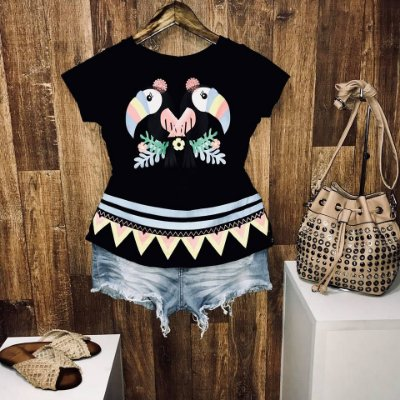 T-shirt Casal de Tucanos