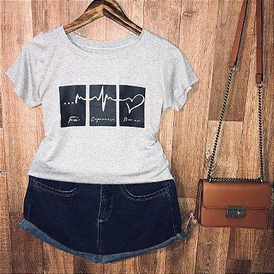 T-shirt Fé Esperança Amor