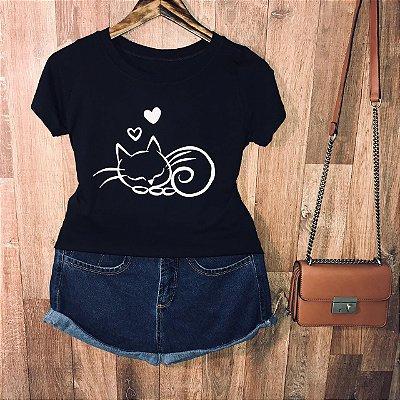 T-shirt Gatinho Soneca