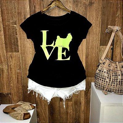 T-shirt Dog Love Neon
