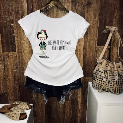 T-shirt Onde Não Puderes Amar Não te Demores