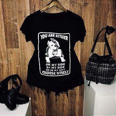 T-shirt Shocker Pit Bull Preta