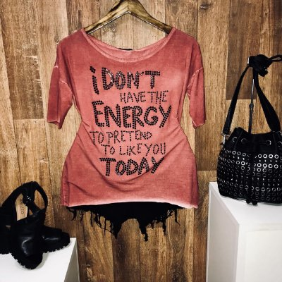 T-shirt Manga Curta Fashion Energy Terra com Pedraria