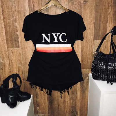T-shirt NYC Preto