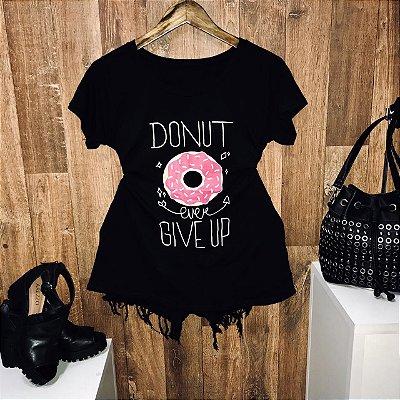 T-shirt Donut Preto
