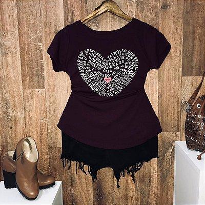 T-shirt  Pai-Nosso Heart Sem Relevo