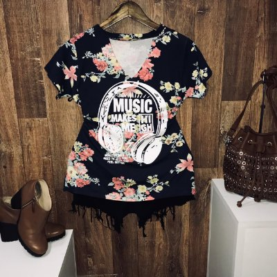 T-shirt Shocker  Music Azul