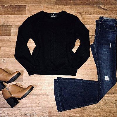 Moletinho Liso Fashion Black