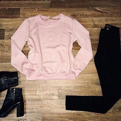 Moletinho Liso Fashion Rosê
