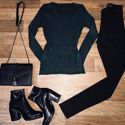 Blusa Tricot Verde