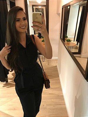 Macacão Longo Fashion Black