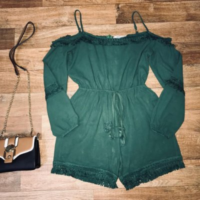 Macaquinho Ciganinha Fashion Verde