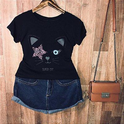 T-shirt Super Cat Star