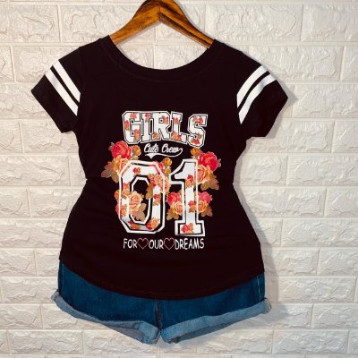 T-shirt Floral Girls 01