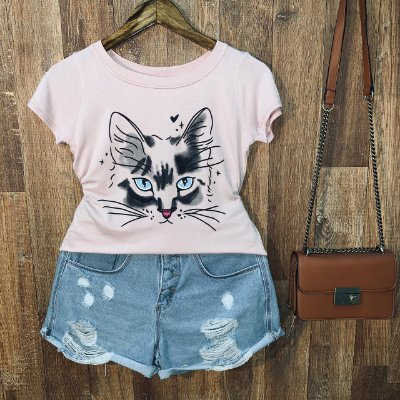 T-shirt Gatinha Misteriosa