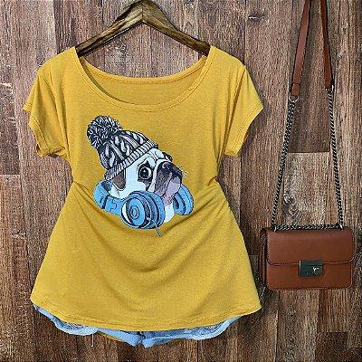 T-shirt Plus Size Pug DJ