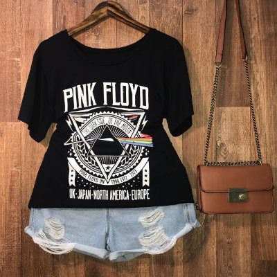 T-shirt Pink Black GG