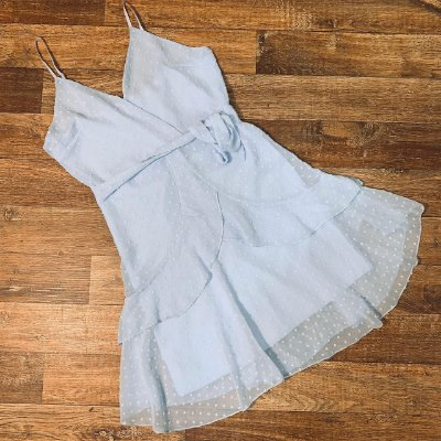 Vestido Curto Tatiana Top Azul Claro