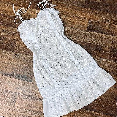 Vestido Laise Alcinha Mariah Branco Fundo Nude