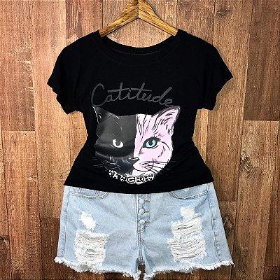 T-shirt Catitude