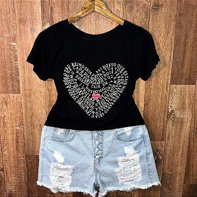 T-shirt Pai Nosso em Coração