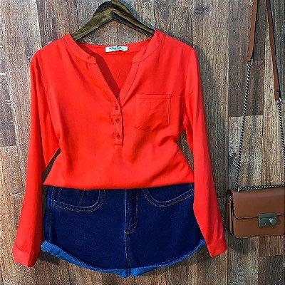 Camisa com Decote Dayane Vermelho