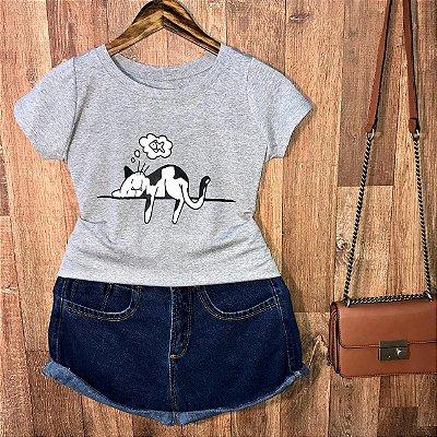 T-shirt Gatinho Dorminhoco