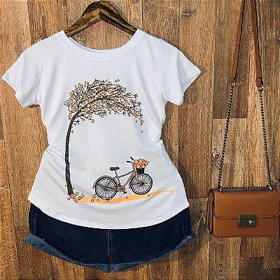 T-shirt Paisagem Bicicleta