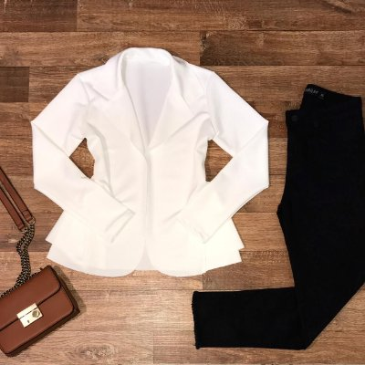 Blazer Neoprene Top White