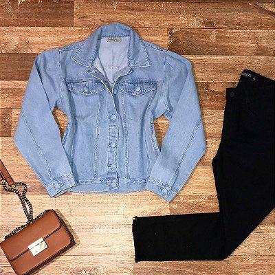 Jaqueta Jeans Fashion Azul Claro