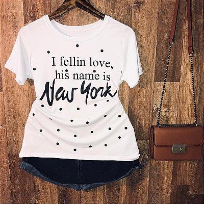 Camiseta New York Poá